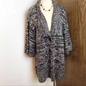 Western connection knit sweater cardigan